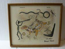 Aboriginal Art Australia Ganyal Yabani David Hudson Lizards Framed Art