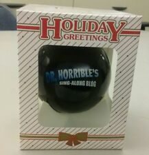 Dr. Horrible's Sing along Blog Ornament Christmas Neil Patrick Harris Movie NEW!