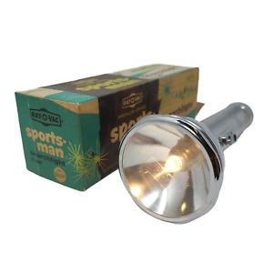 Vintage Rayovac Ray-O-Vac Sportsman Searchlight Flashlight 3 D Cell S33F w Box