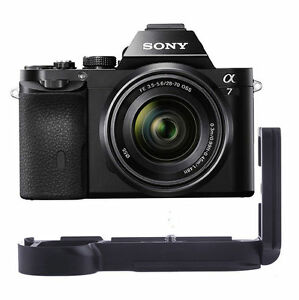 Vertical Metal Hand Grip for Sony Alpha A7 A7R with Double L Flash Bracket