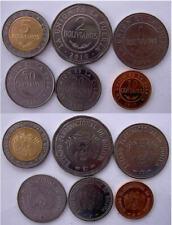 BOLIVIA SERIE 6 MONETE CON BIMETALLICA  2008-2010  5-2-1 BOLIVIANOS 50-20-10 CEN