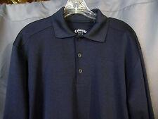 Men's Callaway Polo Golf Shirt L/S Short Sleeve Black Polyester Large L LG