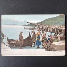 Vintage Antique Tromsø Lapps Norway Postcard