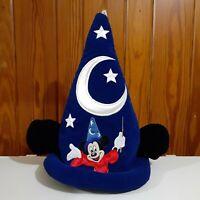 Walt Disney World Fantasia Wizard Sorcerer Blue Hat w/ Mickey Ears Youth Size