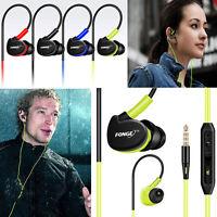 Waterproof With Mic Earphones In Ear Earbuds HIFI Sport Headphones Bass Headset