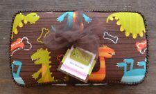 Diapers & Denim Dinosaur Baby Wipe Case - Fabric Covered Plastic