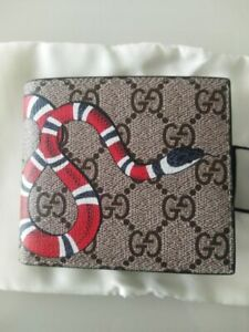 GUCCI Bee Logo Brown Leather Wallet