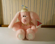 "1988 Dakin Playthings Beanie Bunnies plush 14"" NEW with tags Pink bunny rabbit"