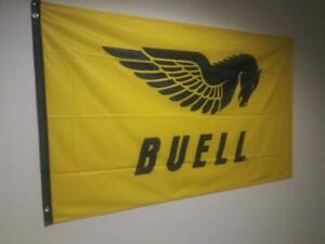 BUELL MOTORCYCLE FLAGS  3ft x 5ft HARLEY DAVIDSON, BUELL RACING.