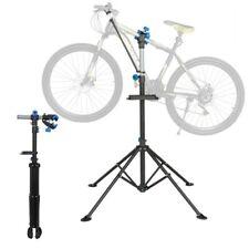 Pro Height Adjustable Bike Repair Work Stand with Telescopic Arm Bonus Tool Tray