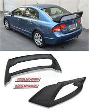 For 06-11 Civic Sedan Mugen RR Style ABS Plastic Rear Spoiler W/ 2X Red Emblem