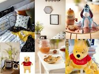 DISNEY WINNIE THE POOH BEES 🐝 Duvet Cover Throw Bed Set Bedding Primark Cushion