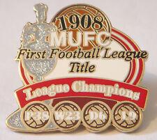 MANCHESTER UNITED Victory Pins 1908 LEAGUE CHAMPIONS Badge Danbury Mint