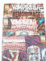 VAMPIRELLA vs. HEMORRHAGE 1 2 3 von 3 komplett ( Splitter, Presse-Cover ) Neu