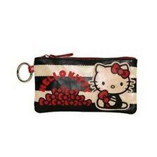 HELLO KITTY Pencil Case COSMETIC BAG - Black & White w/ Red Bows - SANRIO