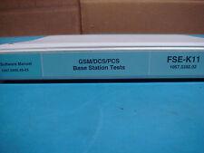 R&S GSM/DCS/PCS BASE STATION TESTS SOFTWARE MANUAL 1057.3440.49-03