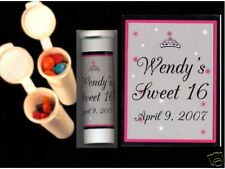 Sweet 16 Quinceanera party favors candy tubes