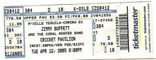 2005 Jimmy Buffett Full Concert Ticket 4/15/2005