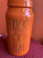 Rae Dunn Orange Halloween TRICK OR TREAT Canister New 2020