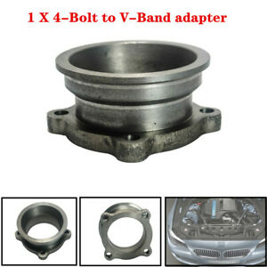 """2.5""""-3""""Stainless Car Truck V-Band Turbo Downpipe 4 Bolt Exhaust Flange Adapter"""