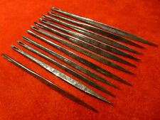 Rare 1820'S Forged Iron Whaling Sailor'S Sailmaking Repair Needles - Maker Mark