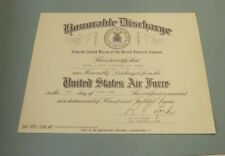 1962 United States Air Force Signed Honorable Discharge Military Document