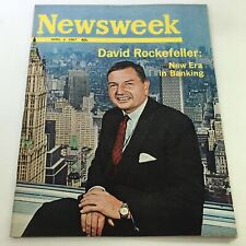 VTG Newsweek Magazine April 3 1967 - David Rockefeller / Newsstand / No Label