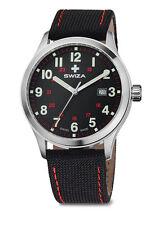 SWIZA MEN'S kretos Men's Watch, svizzero al quarzo, 42mm custodia, cinghia di nylon