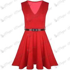 Vestiti da donna rosse con scollo a v taglia L