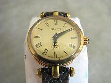 Vintage Ladies Gucci Quartz Watch 80s 5 Jewel Swiss Movement