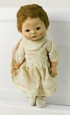 "Vintage 15"" Baby Girl Doll Sleepy Eyes American Character Doll Co 1958 Button"