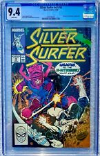 CGC 9.4 SILVER SURFER #18 .. GALACTUS .. RON LIM COVER & ART .. 1988 ..