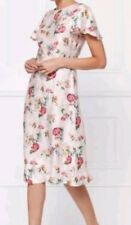 BNWT* NEXT* SIZE 14,BEAUTIFUL BLUSH FLORAL JACQUARD DRESS FROM, SILKY FEEL,  NEW