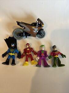 Imaginext DC Friends Batman Robin Flash Joker Figure Lot