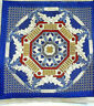 Crewel 3D Embroidery Needlework Wall Decor Pillow Cover Blue Vintage 1970s - New