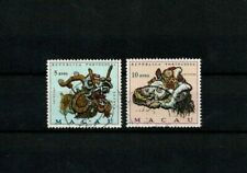 "Macau Macao USED #428-9 Mundifil ""Lion and Dragon"" motifs 5 and 10 avos - 1971"