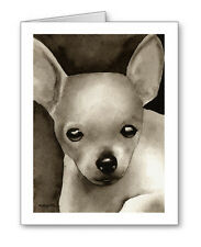 Chihuahua Puppy note cards by watercolor artist Dj Rogers