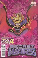 Secret Wars  #3  Bradshaw Doctor Gwenge  Variant  Cover