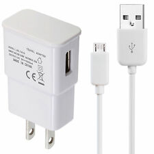 Samsung Galaxy S2 S3 S4 Micro USB Data Cable + Home Wall Charger - Top Quality