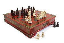 Schachspiel Set Holzbox ca. 35x38x8 32  Chinesische Spielfiguren Geschenk