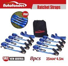 Ratchet Tie Down Straps 25mm x 4.5m (8 Pcs) /LC:400KG/1 Inch AU STOCK