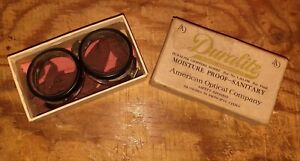 Vintage Duralite Safety Goggles Steam Punk American Optical Company