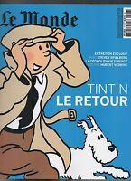 LE MONDE hors série. Tintin le retour. 2009/2010. Couverture bleue