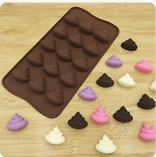 NEW EMOJI POOP SILICONE CHOCOLATE/ICE MOULD (1)