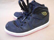AIR JORDAN Nike Lace Up Kids Athletic Sport Shoes Size 13C Black 364782