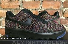 Nike Air Force 1 Ultra Flyknit BASSO BLACK Crimson Viola UK7 EUR41 US8 817419 001