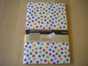 Quaderno 100% in carta riciclata pois dimensioni: 210x140 mm pagine a quadretti