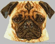 Large Embroidered Zippered Tote - Pug DLE2508