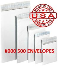 "500 #000 4x8 Poly Bubble Padded Envelopes Mailers Shipping Case 4""x8"" Free Ship"
