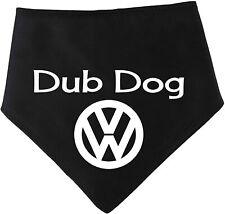 Spoilt Rotten Pets Dog Bandana - BLACK VW Dub Dog Bandana For VW Festival & Meet